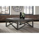 Rustic Charcoal Brown Square Coffee Table – Haroflyn