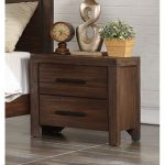 Rustic Contemporary Chocolate Brown Nightstand – Dillon