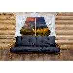 Rustic Country Brown Futon Bed – Glacier