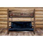 Rustic Dark Brown Twin Bunk-over-Full Futon Bed – Homestead