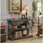 Rustic Hylas Medium Brown Sofa Table – Corbin