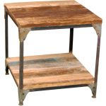 Rustic Light Brown End Table – Manchester