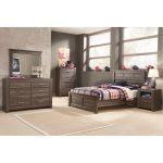 Rustic Modern Driftwood Brown 6-Piece Full Bedroom Set – Fairfax
