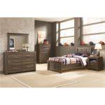 Rustic Modern Driftwood Brown 6-Piece Twin Bedroom Set – Fairfax