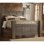 Rustic Modern Driftwood Brown Queen Size Bed – Fairfax