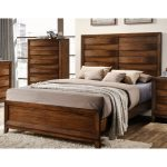 Rustic Modern Oak Queen Size Bed – Kelton