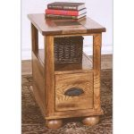 Rustic Narrow Brown End Table – Sedona