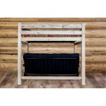 Rustic Natural Clear Lacquered Twin Bunk-over-Full Futon Bed.