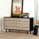 Rustic Oak 4 Drawer Double Dresser – Morice