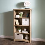Rustic Oak 4-Shelf Bookcase – Artwork