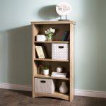 Rustic Oak 4-Shelf Bookcase – Gascony