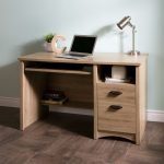 Rustic Oak Desk with 2 Drawers – Gascony