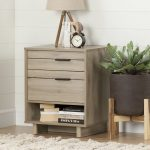 Rustic Oak Nightstand with Drawers – Fynn