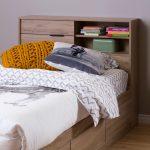 Rustic Oak Twin Storage Headboard – Fynn