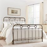 Rustic Queen Size Metal Bed – Madera