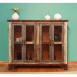 Rustic Reclaimed Wood Console – Antique