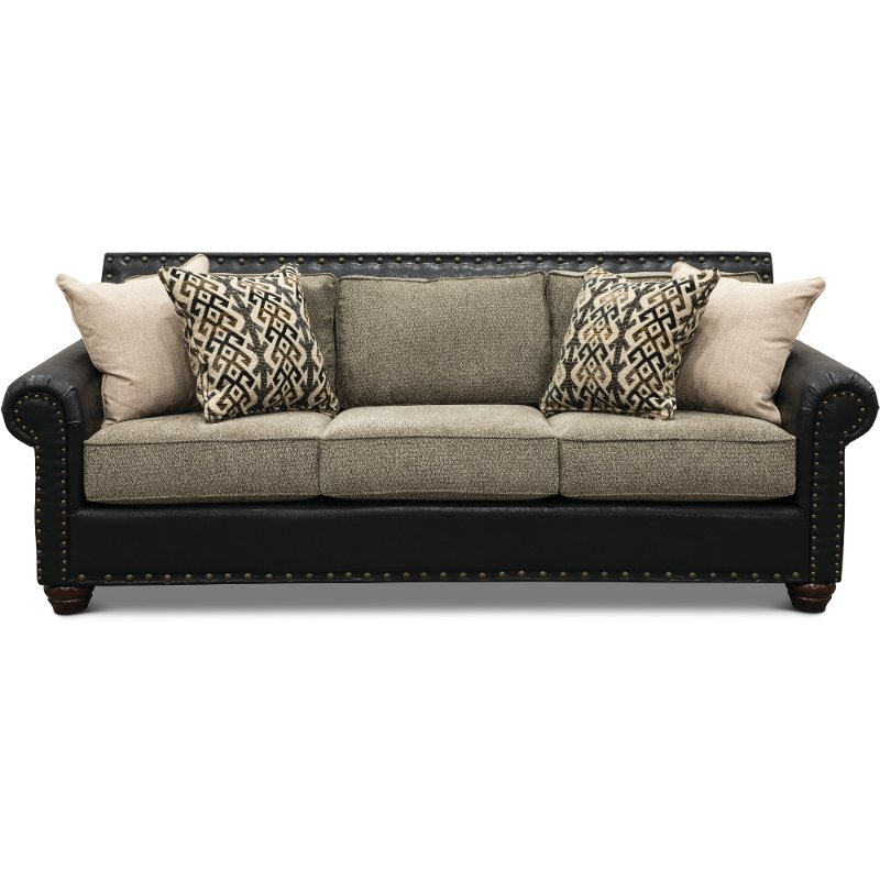 Fabulous Rustic Traditional Black And Brown Sofa Marksman Andrewgaddart Wooden Chair Designs For Living Room Andrewgaddartcom