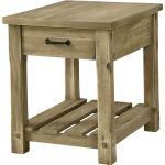 Rustic Wood End Table – Napa