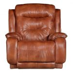 Rustico Brown Leather-Match Power Rocker Recliner – Cresent