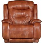 Rustico Brown Leather-Match Swivel Rocker Recliner – Cresent
