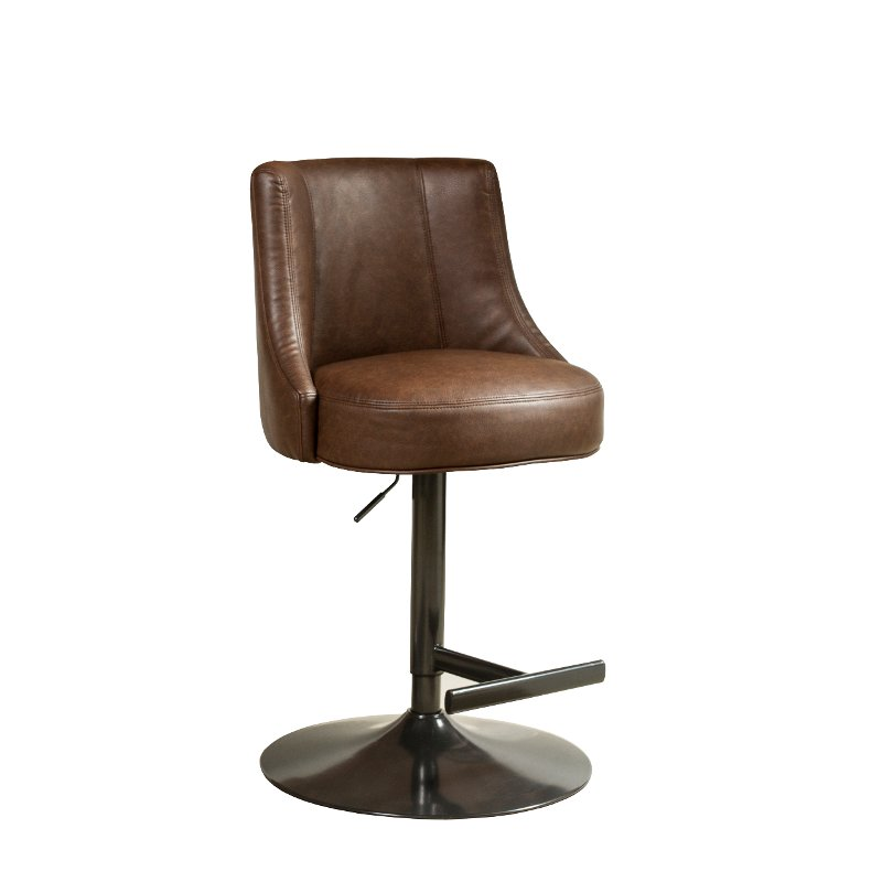 Incredible Saddle Brown Adjustable Barstool Biscayne Everything Cjindustries Chair Design For Home Cjindustriesco