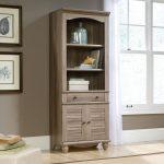 Salt Oak Bookcase with Doors – Harbor View
