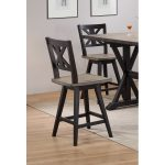 Sand and Black Counter Height Barstools – Orlando
