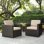 Sand and Brown 2 Piece Wicker Patio Furniture Set – Palm Harbor