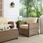 Sand and Brown Wicker Patio Arm Chair – Bradenton