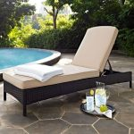 Sand and Brown Wicker Patio Chaise Lounge – Palm Harbor