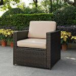 Sand and Brown Wicker Patlo Arm Chair – Palm Harbor