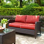 Sangria Wicker Loveseat – Kiawah