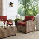 Sangria and Brown Wicker Patio Arm Chair – Bradenton