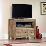 Sauder Rustic Light Oak TV Stand – Dakota Pass