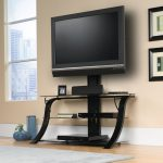 Sauder Select Black/Black Glass TV Stand with Mount