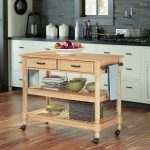 Savannah Natural Maple Kitchen Cart
