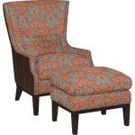 Serapi Patriot Blue & Red Chair & Ottoman – Silas