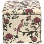 Shaana Holiday Red Skirted Storage Ottoman