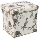 Shaana Ink Nail Button Storage Ottoman