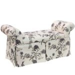 Shaana Ink Skirted Queen Anne Bench