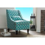 Shabby Chic Blue Fabric Arm Chair