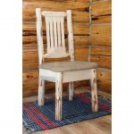 Side Chair with Upholstered Seat, Buckskin Pattern -Montana