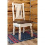 Side Chair with Upholstered Seat, Saddle Pattern -Montana
