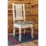 Side Chair with Upholstered Seat, Wildlife Pattern -Montana