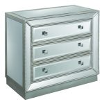 Silver 3 Drawer Mirrored Chest – Elsinore