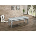 Silver Gray Contemporary Bench – Allura