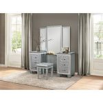 Silvery Gray Contemporary Vanity Set – Allura