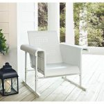 Single Glider Chair in Alabaster White – Veranda