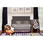 Slate Gray Classic 4-in-1 Convertible Crib – Autumn