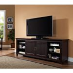Sliding Door Espresso 70 inch TV Stand